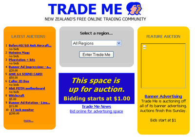 Trade Me - partying like it's 1999